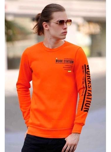Madmext Sweatshirt Oranj